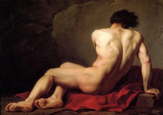 Jacques Louis David, Male Nude known as Patroclus