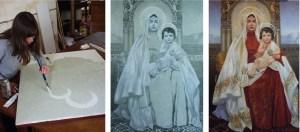 Jesus and Mary, Icon at St Sahag Armenian Church