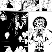 Lilliah Campagna, Instructor, Ink Graphic Novel Page 4, Digital Black and White Panel