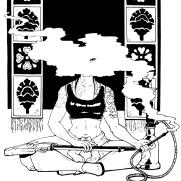 Lilliah Campagna, Instructor, Iron Matron, Age 21, Digital Black and White Illustration