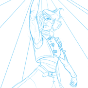 Lilliah Campagna, Instructor, Bringer of Light, Digital Blueline Drawing
