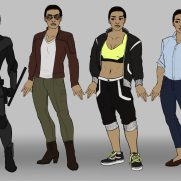 Mick Kaufer, Instructor, Outfit Design Lineup 2, Digital Clothing Design
