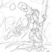 Matt Wendt, Guest Instructor, Astrosaur Cybear, Pencil Study