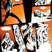 Lilliah Campagna, Instructor, Wordless Color Panel 2, Age 18, Digital Graphic Novel Page