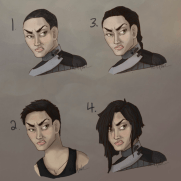 Mick Kaufer, Instructor, Head Studies with Different Hair Style, Age 17, Digital Painting