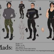 Mick Kaufer, Instructor, Mads, Age 19, Digital Character Design Sheet