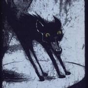 David Witt, Instructor, Shrieking Black Cat, Screenprint