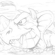 Matt Wendt, Guest Instructor, Pet Triceratops, Pencil Study