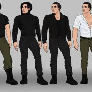 Mick Kaufer, Instructor, Outfit Design Lineup 1, Digital Clothing Design