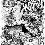 David Witt, Instructor, SANDWICH #4 Zine Cover, Pen & Ink & Brush on Paper