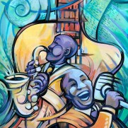 David Witt, Instructor, The Blues, Acrylic Painting