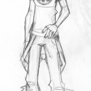 Lilliah Campagna, Instructor, Character Design, Age 13, Pencil on Paper