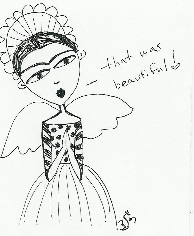 Frida Kahlo In Heaven by Bethann Shannon