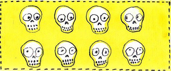 8 skulls by Bethann Shannon