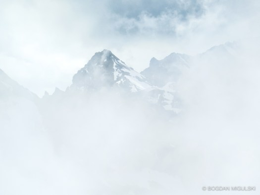 Cloud shrouded view from Schilthorn