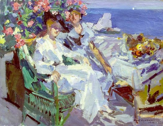 Two Ladies On a Terrace, 1911