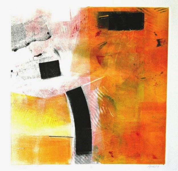 Divergence, Frank Mikuska, monoprint, 2004