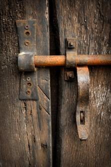 Rusty door bolt