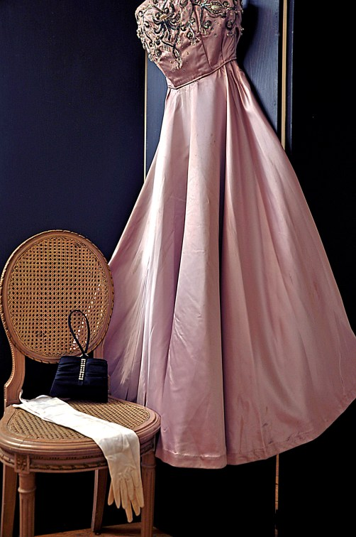 Lilac satin dress