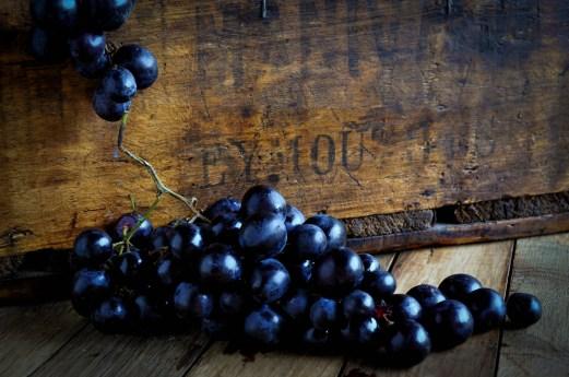Grapes & crate 1