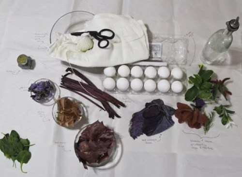Materials for Naturally Dyed Easter Eggs