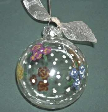 Hand Painted Christmas Ornaments 5 Variations The Artful Crafter