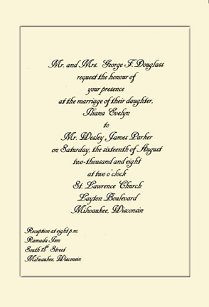 Wedding Invitation Letter Format Kerala. Wedding Invitation Sample Composing a Using MS Word  The Artful Crafter