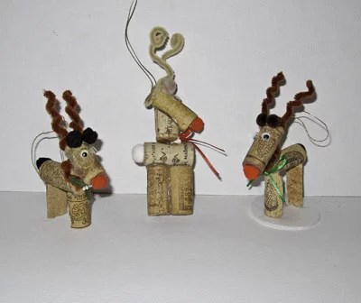 Wine Cork Ornament: Rudolph the Reindeer - The Artful Crafter