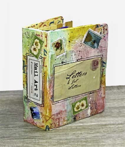 Letters Altered Binder: Franklin Planner Repurposed for Mail Art