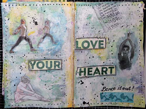 Love Your Heart Journal Spread: Dance Your Heart Out