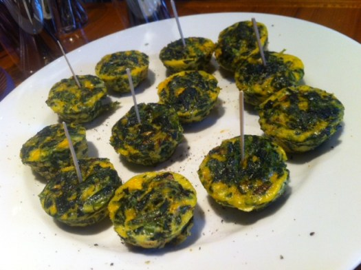 Mini Spinach, Mushroom and Cheese Quiche