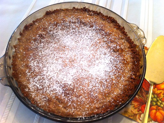 Bourbon Vanilla Cream Pie with Oatmeal-Pecan Cookie Crust