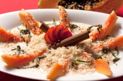 Sticky Sweet Rice with Papaya
