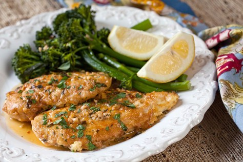 Plate the chicken and broccolini and spoon the lemon-wine-garlic butter sauce over the top of both. Season with additional salt and pepper to taste.