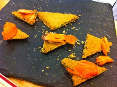 Smoked Salmon on Oatcakes