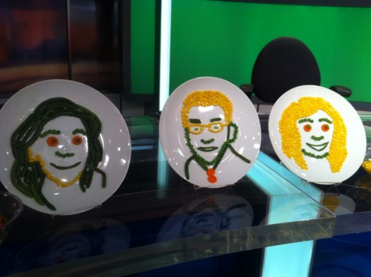 Veggie Portraits for Birds Eye & Jennette McCurdy CBS TV Segment