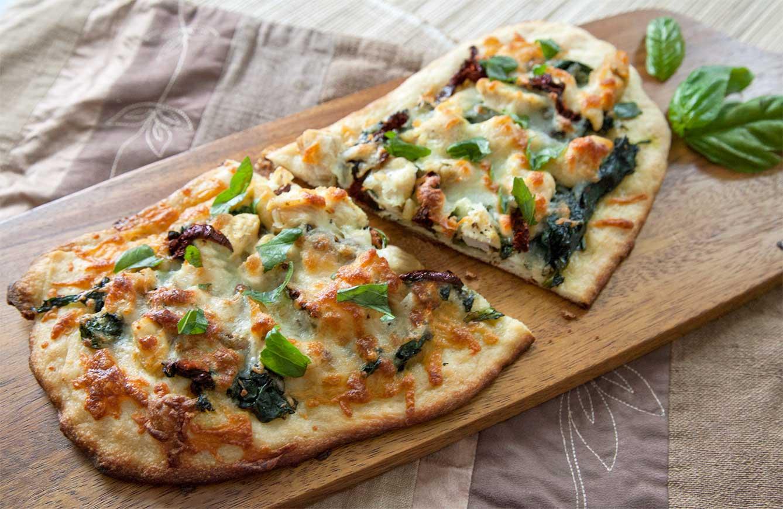 recipe: garlic spinach pizza [16]