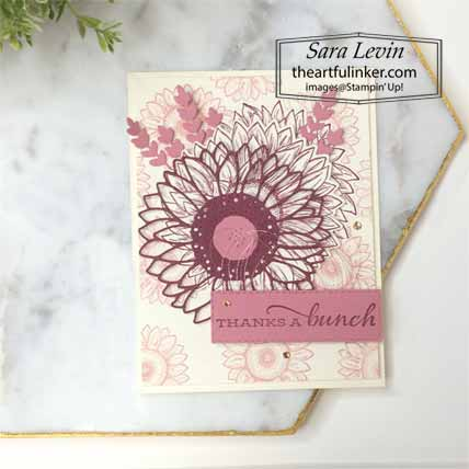 Celebrate Sunflowers Sneak Peek card. Shop for Stampin Up with Sara Levin at theartfulinker.com
