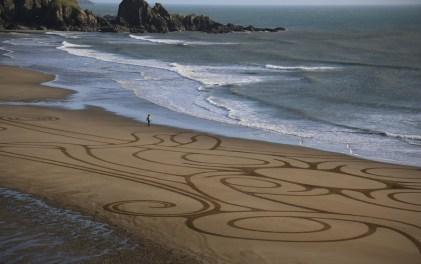Sand Art Sean Corcoran The Copper Coast Waterord Beach Ireland 20