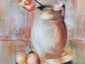 A Jar and Two Pears by Loran Tsang