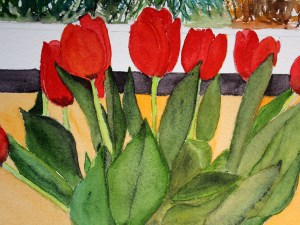 Two Lips for Spring by Jocelyn Bichard