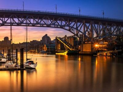 Granville Bridge Sunrise by Brad Koop