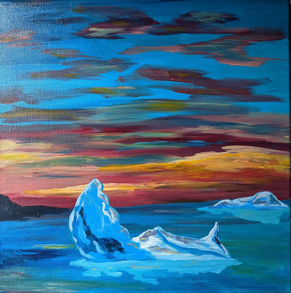 Icebergs in Bay Roberts by Wendy Capp