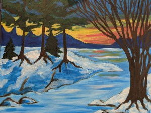Winter Wonderland on Sturgeon Lake by Wendy Capp