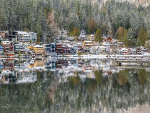 Cultus Lake Homes in Winter by Carsten Arnold