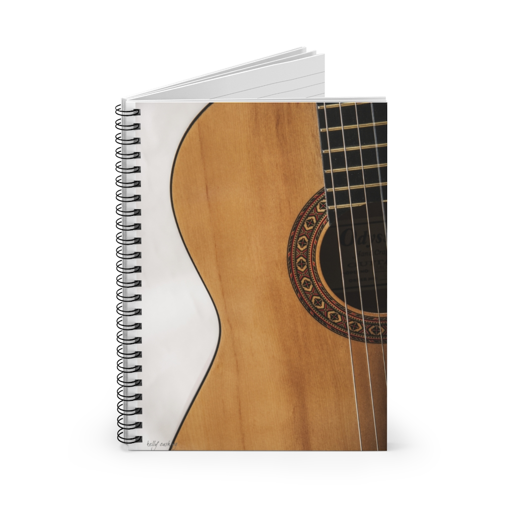 Mid Guitar Spiral Notebook - Ruled Line