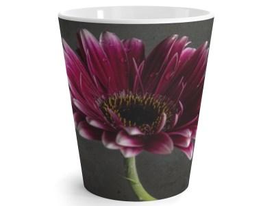 Dark Pink Gerber Latte Mug