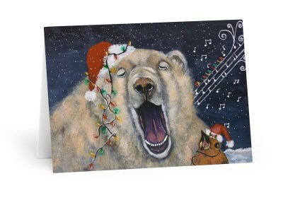 Deck The Halls Christmas Cards (5 Pack)