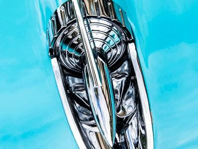 Blue Car Fin by Kelly Cushing