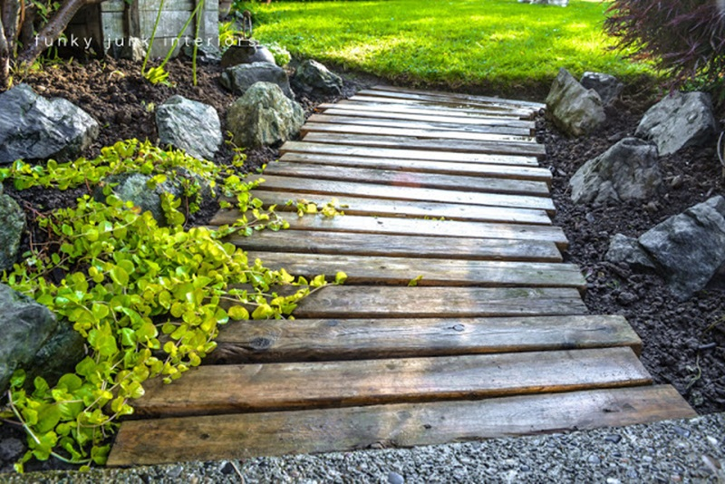 10 Cool and Amazing DIY Wooden Projects For Your Yard You ... on Backyard Walkway Ideas id=79313